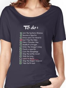 Commander Shepards To-Do List Women's Relaxed Fit T-Shirt