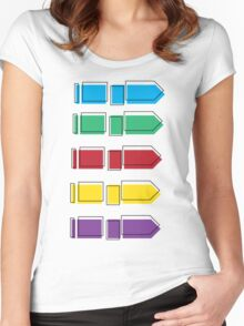 Colourful Arrow Print Women's Fitted Scoop T-Shirt