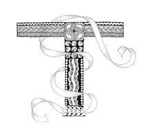 Zentangle®-Inspired Art - Tangled Alphabet - T Photographic Print