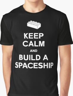 Keep Calm and Build a Spaceship Graphic T-Shirt