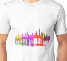 Chicago, Illinois Skyline Puddles Unisex T-Shirt