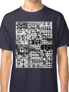 analog synthesizer modular system - black and white illustration Classic T-Shirt