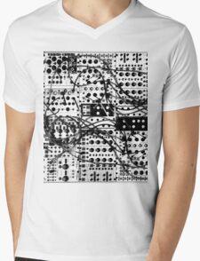 analog synthesizer modular system - black and white illustration T-Shirt