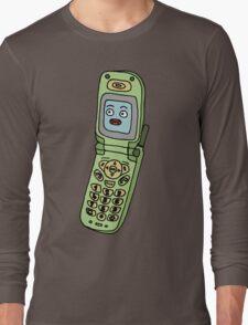 happy cellphone Long Sleeve T-Shirt