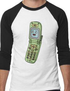 happy cellphone Men's Baseball ¾ T-Shirt