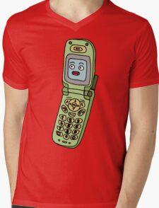 happy cellphone Mens V-Neck T-Shirt