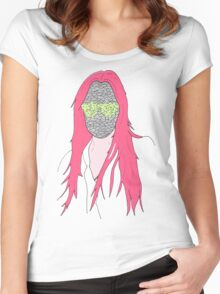 mistery mask girl Women's Fitted Scoop T-Shirt