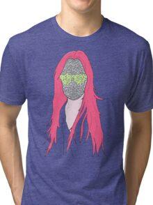 mistery mask girl Tri-blend T-Shirt