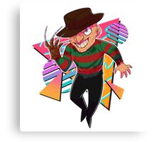 80s Horror Icons- Freddy Krueger Canvas Print
