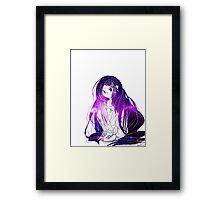 INJURED GIRL Framed Print