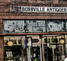 """""""Burrville Antiques""""... prints and products Sticker"""