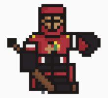 8-Bit Crawford Sticker by tbeb