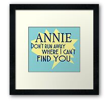 Annie Lyrics Highlight Framed Print