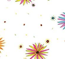 Sydney Summer daisies pattern design Sticker