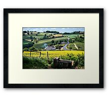 Midsummer Smoke In An English Valley Framed Print