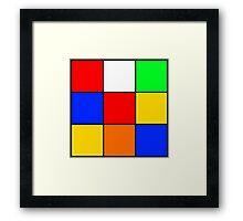 Rubik's stuff Framed Print