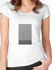 Save The Light - Morris Island Light Women's Fitted Scoop T-Shirt