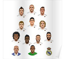 Real Madrid Squad 2015 Poster