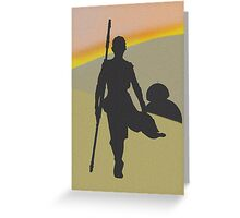 Star Wars Rey and BB-8 Greeting Card