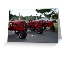 Red Tractors Greeting Card