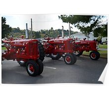 Red Tractors Poster