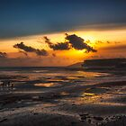 Whitecliff Bay Sunset by manateevoyager