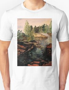 Rocky Stream - Back to Nature Unisex T-Shirt