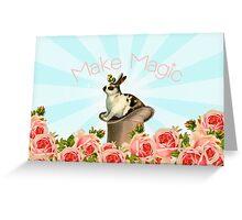 Magic Trick Rabbit Greeting Card