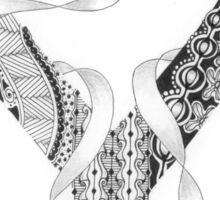 Zentangle®-Inspired Art - Tangled Alphabet - Y Sticker