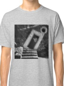 Abstract balance between man and architecture Classic T-Shirt