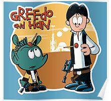 """Greedo & Han"" Poster"
