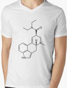 LSD Molecule (Black) Mens V-Neck T-Shirt