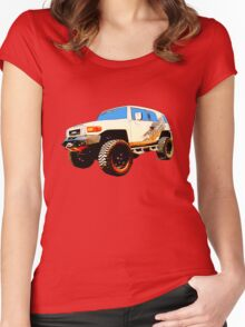 Toyota FJ Cruiser 4x4 Cartoon Panel from VivaChas Women's Fitted Scoop T-Shirt
