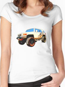 Toyota FJ Cruiser 4x4 Cartoon Panel from VivaChas Women's Fitted Scoop T-Shirt