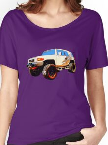 Toyota FJ Cruiser 4x4 Cartoon Panel from VivaChas Women's Relaxed Fit T-Shirt