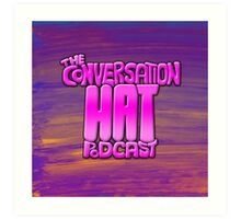 The Conversation Hat Logo Art Print