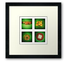 Green Kitchen  Framed Print