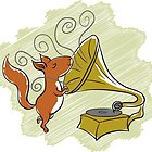 squirrel and music by Kopfzirkus