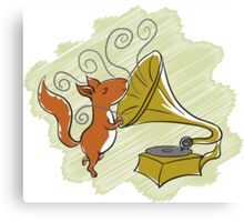 squirrel and music Canvas Print