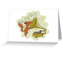 squirrel and music Greeting Card