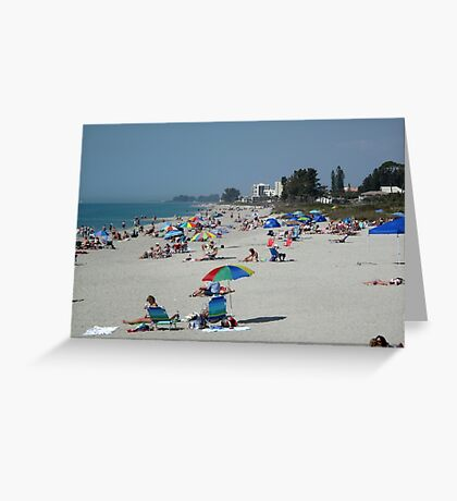 Sunny Venice Beach Florida Greeting Card