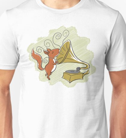 squirrel and music Unisex T-Shirt