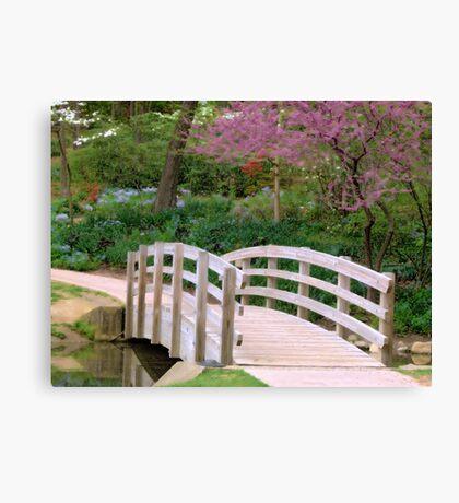 Spring Bridge Canvas Print