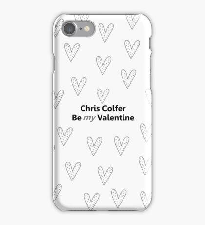 Chris Colfer Be MY Valentine iPhone Case/Skin