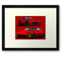 Mazda Miata MX 5 and Gt 86 Framed Print