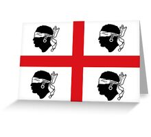 Traditional Flag of Sardinia  Greeting Card