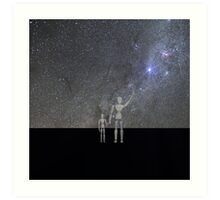 Father and son - no she did not leave us Art Print
