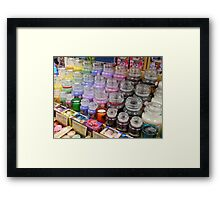 Aromatherapy Unchained - Yankee Candles Shop Display Framed Print