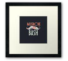 Mustache Bash Framed Print