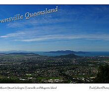 Townsville and Magnetic Island from Mount Stuart by Paul Gilbert